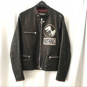 Lanvin 'Nothing T-Rex Skeleton' Calfskin Jacket